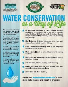 Water Conservation with detailed text